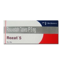 Box and blister strip of generic Rosuvastatin Calcium 5mg tablets
