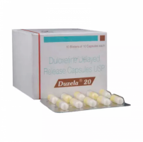 Box and blister strip of generic Duloxetine Hcl 20mg capsule