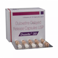 Box and blister strip of generic Duloxetine Hcl 30mg capsule