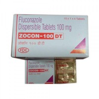 Box and blister strips of generic fluconazole 100mg tablet