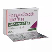 Box and blister strips of generic fluconazole 50mg tablet