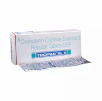 Box and blister strip of generic oxybutynin chloride 5mg tablets