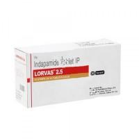 Box of generic Indapamide (2.5mg) Tab