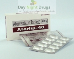 Box and a few strips of generic Atorvastatin Calcium 40mg tablets
