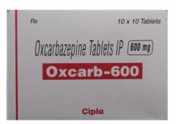Box of Generic Trileptal 600 mg Tab - Oxcarbazepine