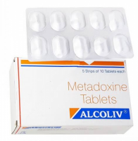 Box and a strip of generic Metadoxine 500mg Tab