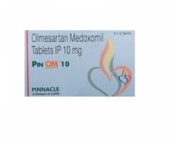 Box and blister strip of generic Olmesartan Medoxomil 10mg tablets