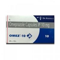 Box of generic Omeprazole 10mg capsule