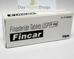 Box pack of generic Finasteride 5mg tablets
