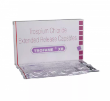 Box and blister strips of generic trospium xr 60mg tablets
