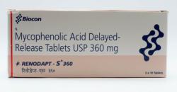 Box of Generic CellCept 360 mg Tab - Mycophenolate mofetil