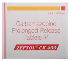 Box of Generic Tegretol XR 400 mg Tab - Carbamazepine