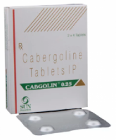 Box pack and a strip of Generic Dostinex 0.25 mg Tab - Cabergoline