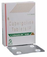 Box pack and a strip of Generic Dostinex 0.25 mg Tab - Cabergoline