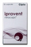 Box pack of Ipravent 40mcg Rotacaps with Rotahaler
