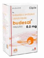 Box pack of generic Levalbuterol (1.25mg) + Budesonide (0.5mg) Respules 2ml