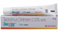 A tube and a box of Generic Protopic 0.03 % Ointment Tube 10gm
