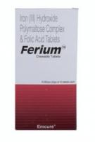Box of Generic Elemental Iron 100 mg and Folic Acid 350 mcg Chewable Tab