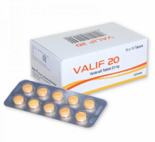Box pack and a blister of generic Vardenafil HCl 20mg Tablets