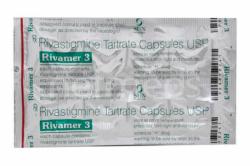 A blister of generic Rivastigmine Tartrate 3mg capsule
