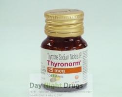 Bottle of generic Synthroid 25mcg Tablets - levothyroxine sodium