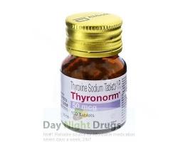 Bottle of generic Synthroid 50mcg Tablets - levothyroxine sodium