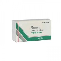 Box of generic Topiramate 200mg tablets