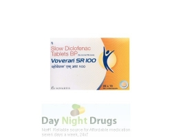 Box pack of Voltaren sr 100mg tablet - diclofenac sodium