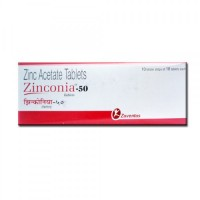 A box pack of Zinc Acetate 50mg tablet