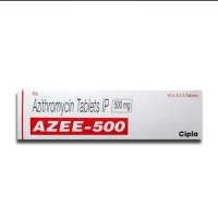 Box of generic azithromycin  500mg tablet