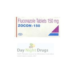 Box of generic fluconazole 150mg tablet