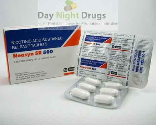 Niaspan 500 mg SR Tablets (Generic Equivalent)