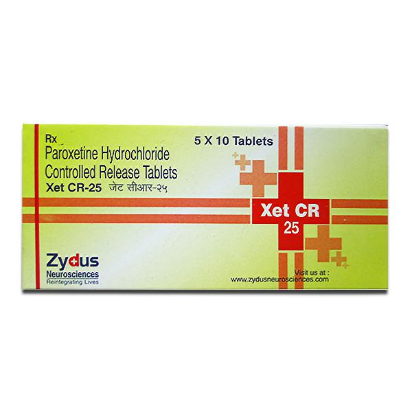 Paxil Cr 25 mg (Controlled Release Tablet) (Generic Equivalent)