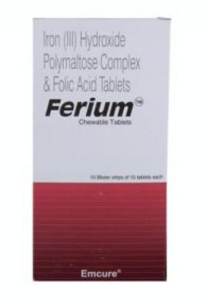 Generic Elemental Iron 100 mg and Folic Acid 350 mcg Chewable Tab