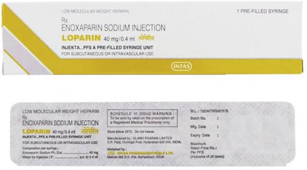 Generic Clexane 40 mg / 0.4 mL Prefilled Injection