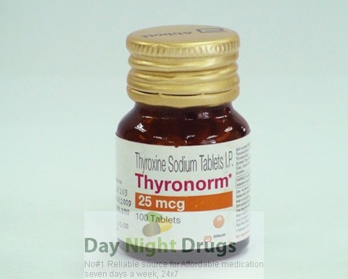 Synthroid 25mcg Tablets (Generic equivalent)